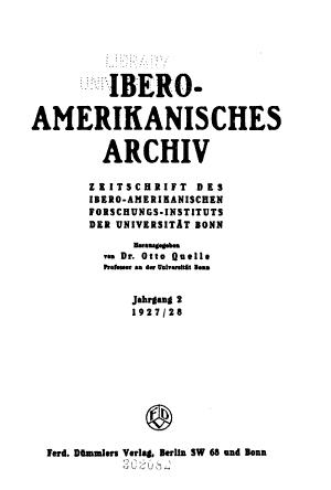 Ibero amerikanisches Archiv