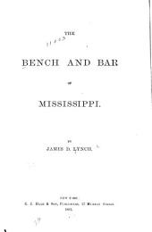 The Bench and Bar of Mississippi