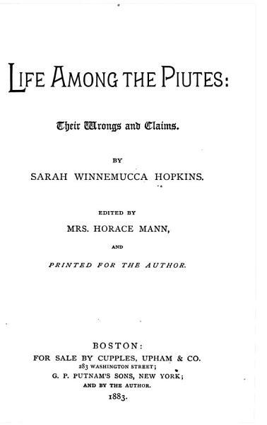 Download Life Among the Piutes Book