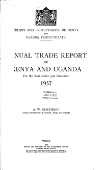 Annual Trade Report of Kenya and Uganda for the Year Ended