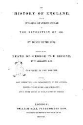 The History of England, from the Invasion of Julius Cæsar to the Revolution of 1688 by David Hume, Esq