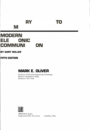 Modern Electronic Communication PDF