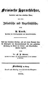 Frisische Sprachlehre, übers., mit einem Vorwort, von F.I. Buss