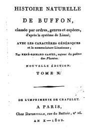 Histoire Naturelle: classée par ordres, genres et espèces, d'après le système de Linnée : avec les Caractères génériques et la nomenclature Linnéenne. Quadrupedes ; T. 7, Volume10