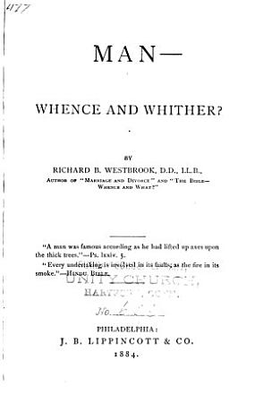 Man  whence and Whither  PDF