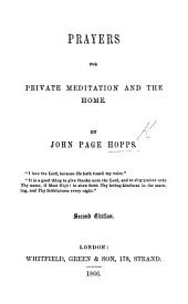 Prayers for private meditation and the home ... Second edition