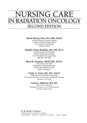 Nursing Care in Radiation Oncology PDF