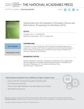 Opportunities from the Integration of Simulation Science and Data Science: Proceedings of a Workshop