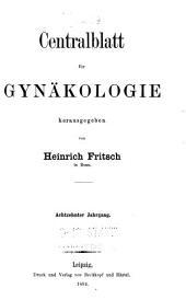 Centralblatt für gynäkologie: Band 18
