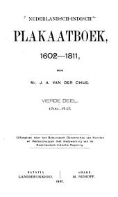 Nederlandsch-Indisch plakaatboek, 1602-1811: Volume 4