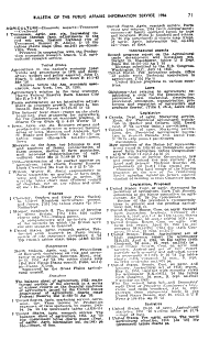 Bulletin of the Public Affairs Information Service