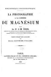 La photographie à la lumière du magnésium