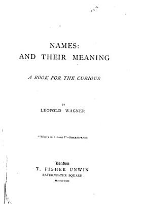 Names  Amd Their Meaning PDF