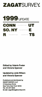 1999 Zagat Connecticut  Southern New York State Restaurant Survey PDF