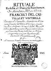 Rituale ecclesiae et dioecesis Baucinonen [sic]