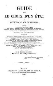 Dictionnaire des professions