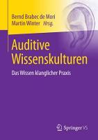 Auditive Wissenskulturen PDF