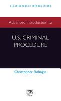 Advanced Introduction to U S  Criminal Procedure PDF