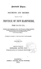 Provincial and State Papers: Volume 7