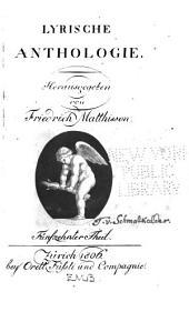 Lyrische Anthologie: Bände 15-16