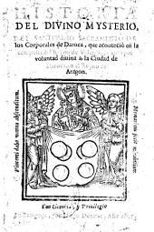 Historia del divino mysterio del SSmo Sacramento de los corporales de Daroca