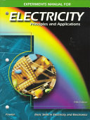 Electricity  Principles and Applications  Experiments Manual PDF