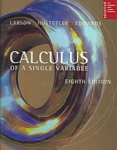 Calculus of a Single Variable Book