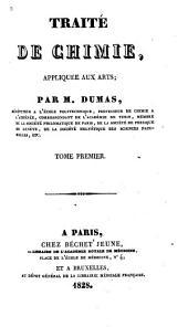 Traité de chimie appliquée aux arts: Volume1