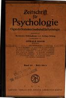 Zeitschrift f  r psychologie und physiologie der sinnesorgane PDF
