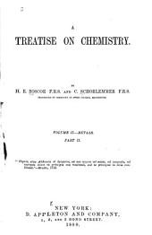 A Treatise on Chemistry: Volume 2, Part 2