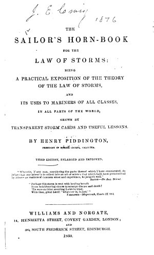 The Sailor s Horn book for the Law of Storms