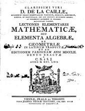Elementa algebrae, et geometriae