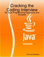 Cracking the Coding Interview  60 Java Programming Questions and Answers PDF