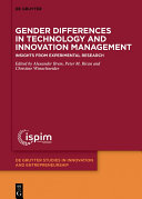 Gender Differences in Technology and Innovation Management