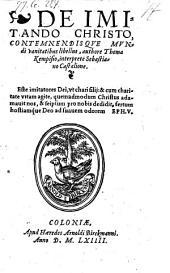 De imitando Christo, contemnendisque mundi vanitatibus libellus, interprete Sebastiano Castalione