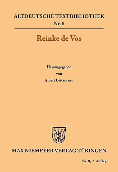 Reinke de Vos PDF