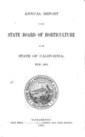 Annual Report of the State Board of Horticulture of the State of California ...