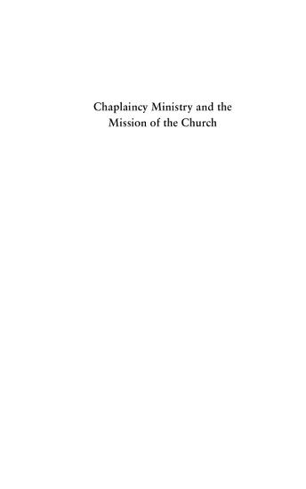 Chaplaincy Ministry and the Mission of the Church PDF