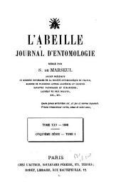 L'Abeille: journal d'entomologie, Volume25