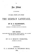 A new method of learning to read  write  and speak the German language  Fr PDF
