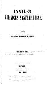 Annales Botanices Systematicae: Volume 3