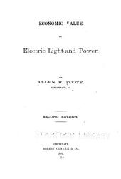 Economic Value of Electric Light and Power