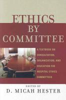 Ethics by Committee PDF