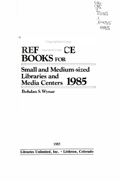 Recommended Reference Books for Small and Medium sized Libraries and Media Centers  1985 PDF
