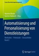 Automatisierung und Personalisierung von Dienstleistungen PDF