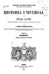Historia universal: Guerra, legislación, religión. Documentos, Volumen 8