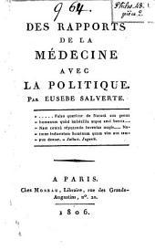 Des rapports de la médecine avec la politique