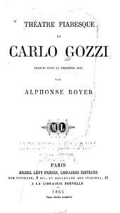 Théâtre fiabesque de Carlo Gozzi