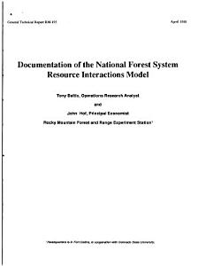 Documentation of the National Forest System Resource Interactions Model