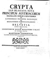 Crypta S. Blasiana nova